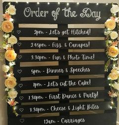 Chalkboard Order of the Day