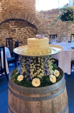 Artisan Silver Wedding Cake Platter