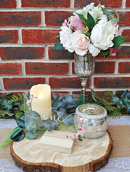 Wedding Table Centrepiece with acrylic table number