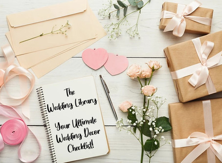 Your Ultimate Wedding Décor Checklist!