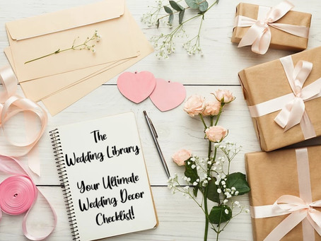 Your Ultimate Wedding Décor Checklist!