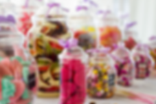 Assortment of candy in jars for the Sweet Candy Cart