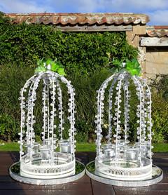 Pearl & Crystal Tea Light Holders