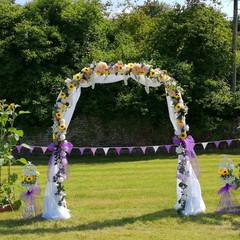 Sunflower Wedding Arch