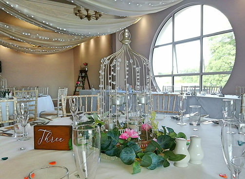 Wedding Table Centrepiece at Kingston Maurward Weddings