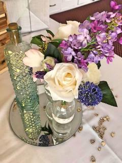 Silk Flowers & Bottle Lights