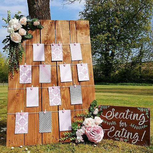 Rustic Wedding Table Seating Plan
