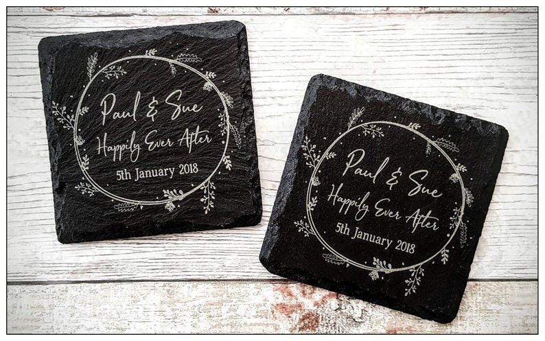 Wedding Library recommended wedding favours coasters