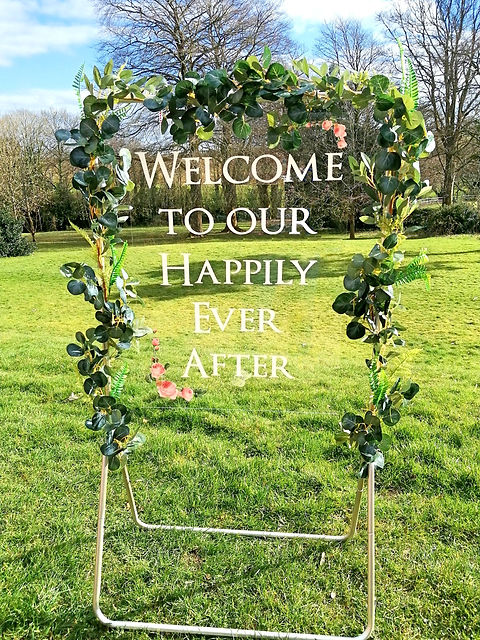 Welcome to our Happily Ever After Acrylic WeddingSign