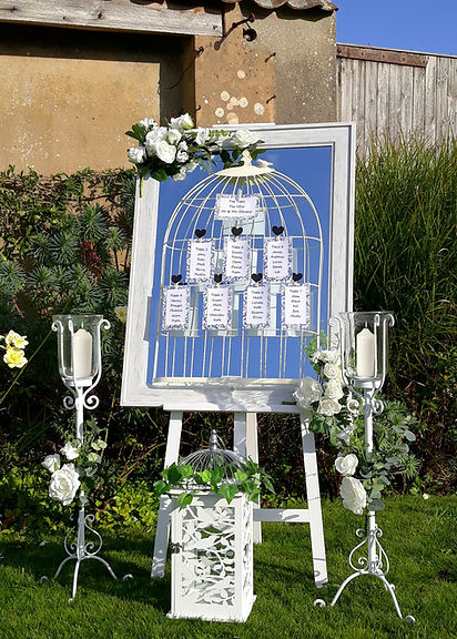Birdcage Mirror Wedding Seating Plan