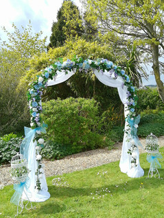Blues Wedding Arch