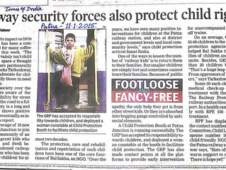 'Railway security forces also protect child rights'