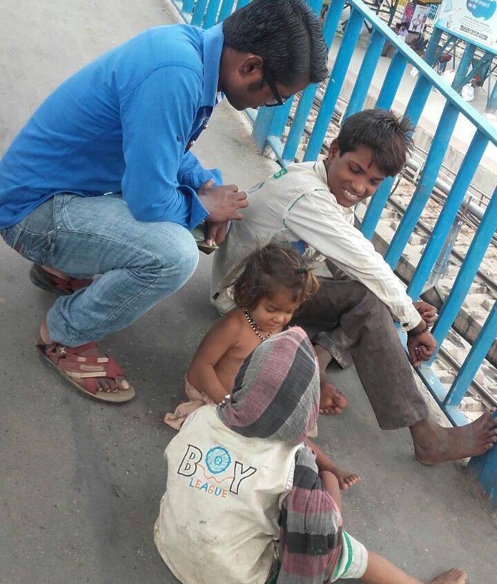 Sarthi at rail station