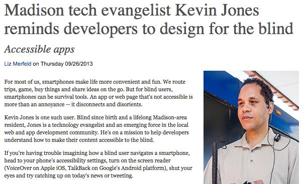 Madison tech evangelist Kevin Jones