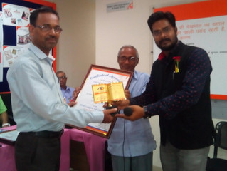 Vasan Eye Care Hospital gives director certificate of appreciation