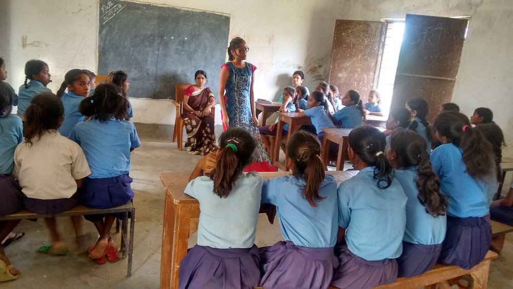 Bhawani Tola's middle school classroom