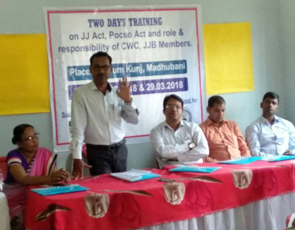 Tarkeshwar took part in a comprehensive seminar on the current state of regulations and safeguards for children in distress in Bihar