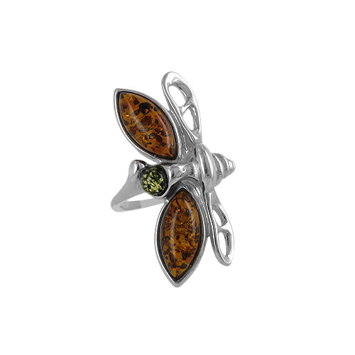 The Amber Dragonfly Ring