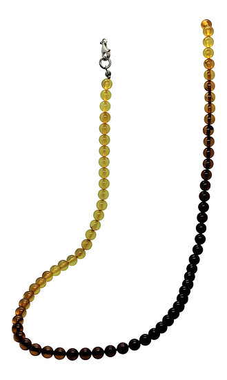 "Baltic Amber Bead Necklace: ""Ombre"""