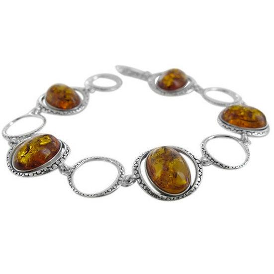 "Amber Bracelet: ""Solstice"" 7.75 inches"