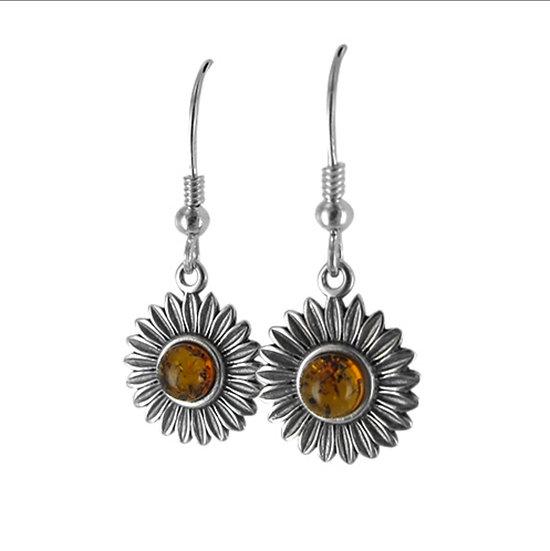 Susannah Amber Sunflower earrings
