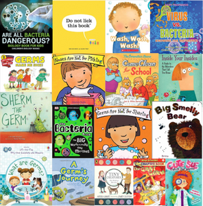 16 Books about germs collage
