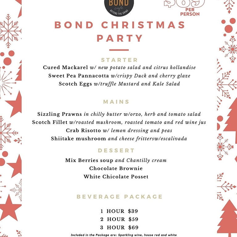 Christmas Party At Bond Cafe