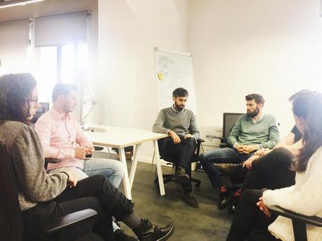 Rubén, project director at Lanzadera pays a visit