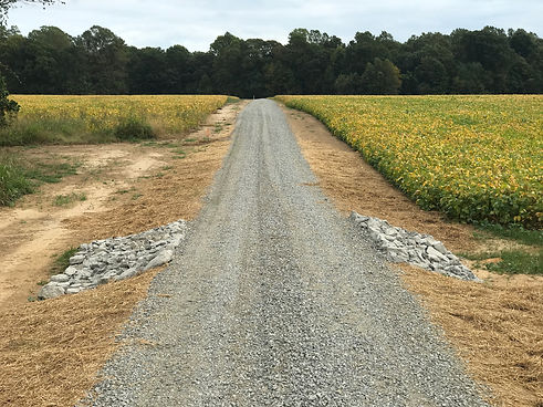 new gravel road
