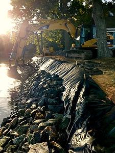 Job in progress in Bay Quarter Shores