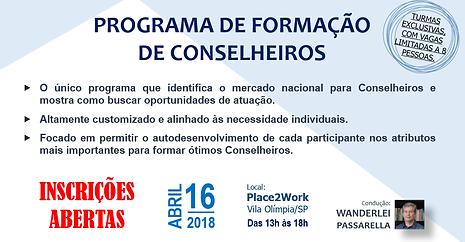 """CELINT -  WORKSHOP """"PFC - PROGRAMA DE FORMAÇÃO DE CONSELHEIROS"""""""