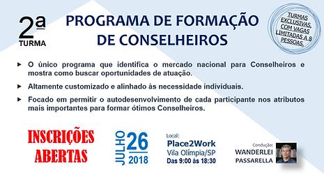 """CELINT -  2ª TURMA WORKSHOP """"PFC - PROGRAMA DE FORMAÇÃO DE CONSELHEIROS"""""""