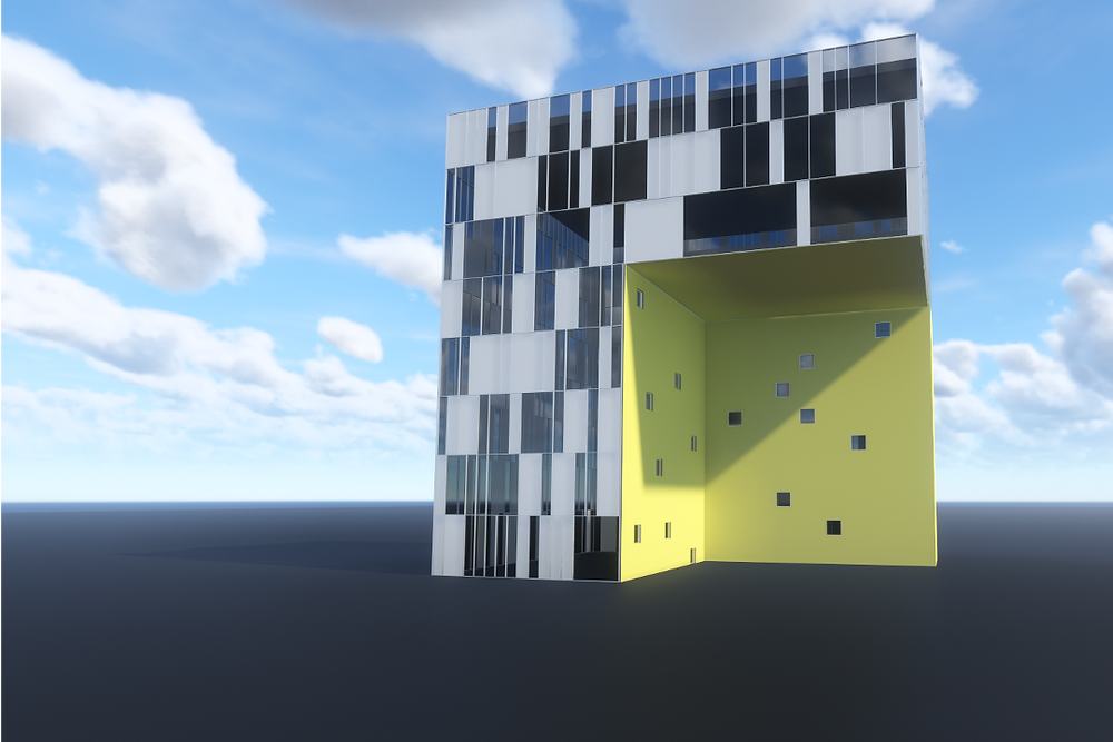 Random Revit Curtainwall Facade Using Dynamo