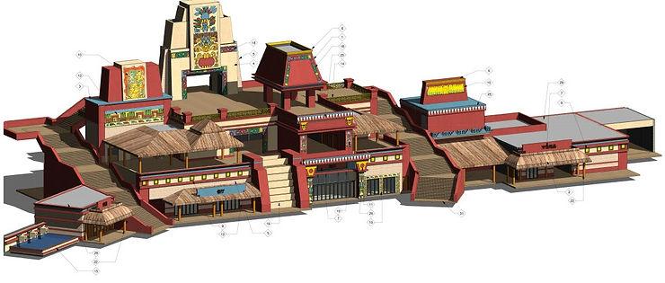 Mayan Theme Park Revit Modeling 3d 10.jp
