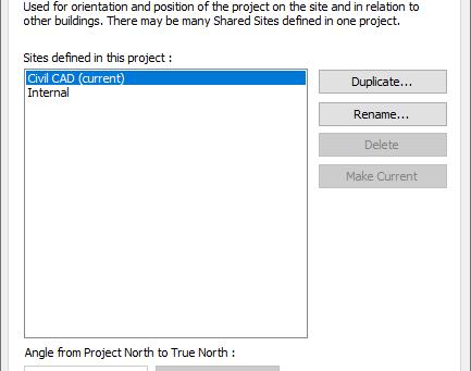 Adding Civil Coordinates to Revit Project