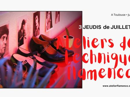   Ateliers de technique flamenca - Tous niveaux  