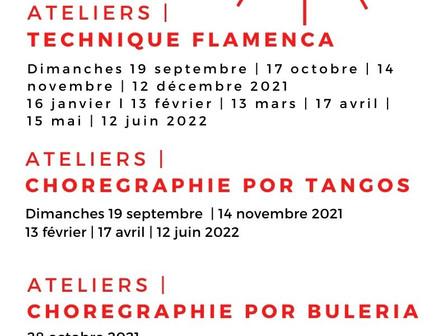   Zoom sur les dates des ateliers de danse flamenco 2021   2022