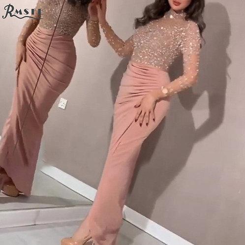 Evening Elegant Fashion Sequins  Sexy Dress