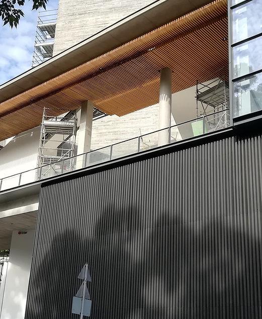 Exterior wooden baffle ceiling 1 - 24D c