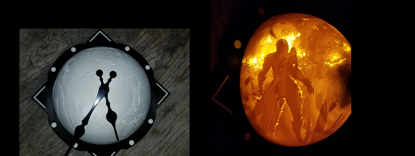 Half sphere WoW Sylvanas clock