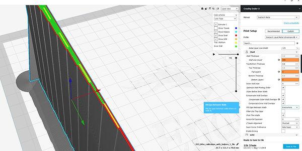 cura settings, gameon3D, custom lithophane