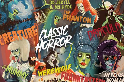 Classic Horror Poster Design
