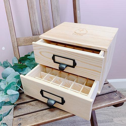 兩層抽屜式精油木盒