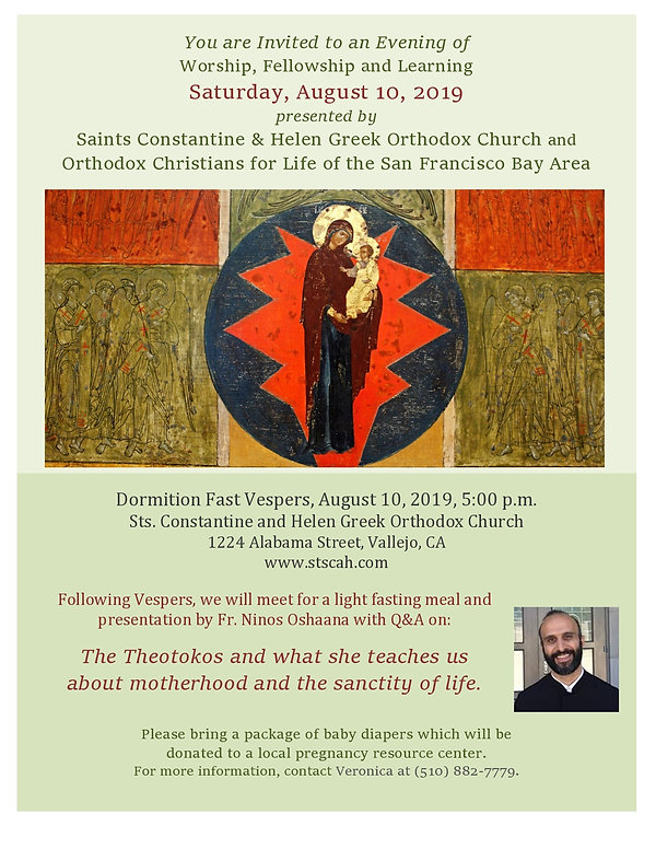 Flyer - Vespers and Presentation by Fr.