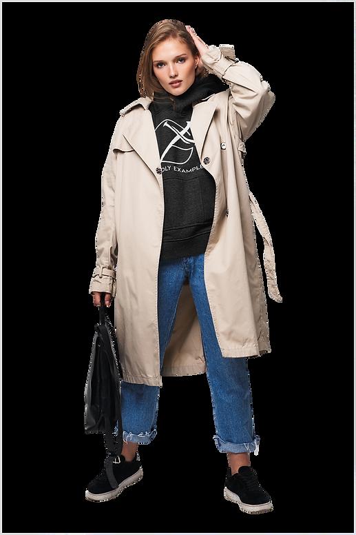 Godly Example trendy-woman- black hoodie