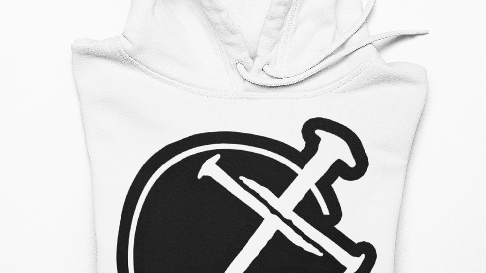 Godly Example Logo Hoodie (White | Solid Black )