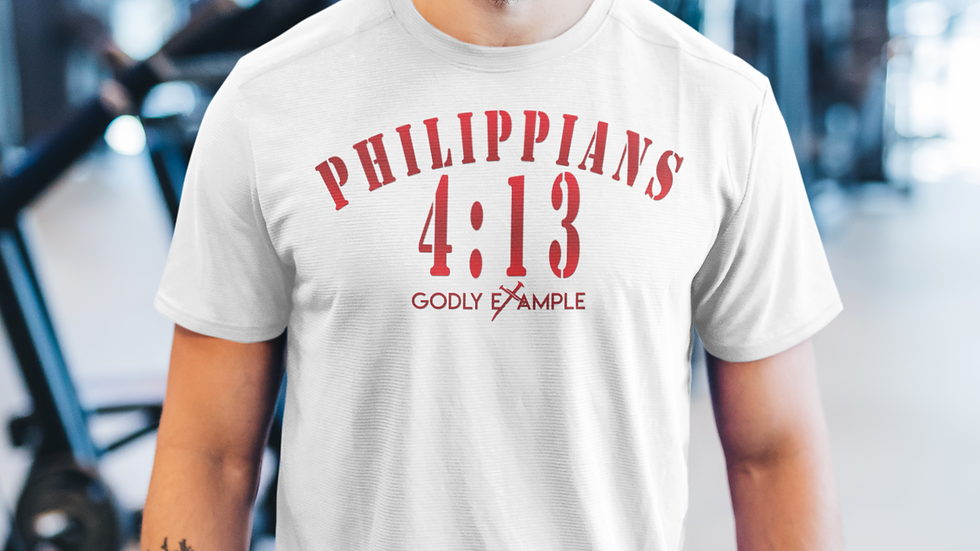 Godly Example Philippians 4:13 Vintage (White/Faded Red)