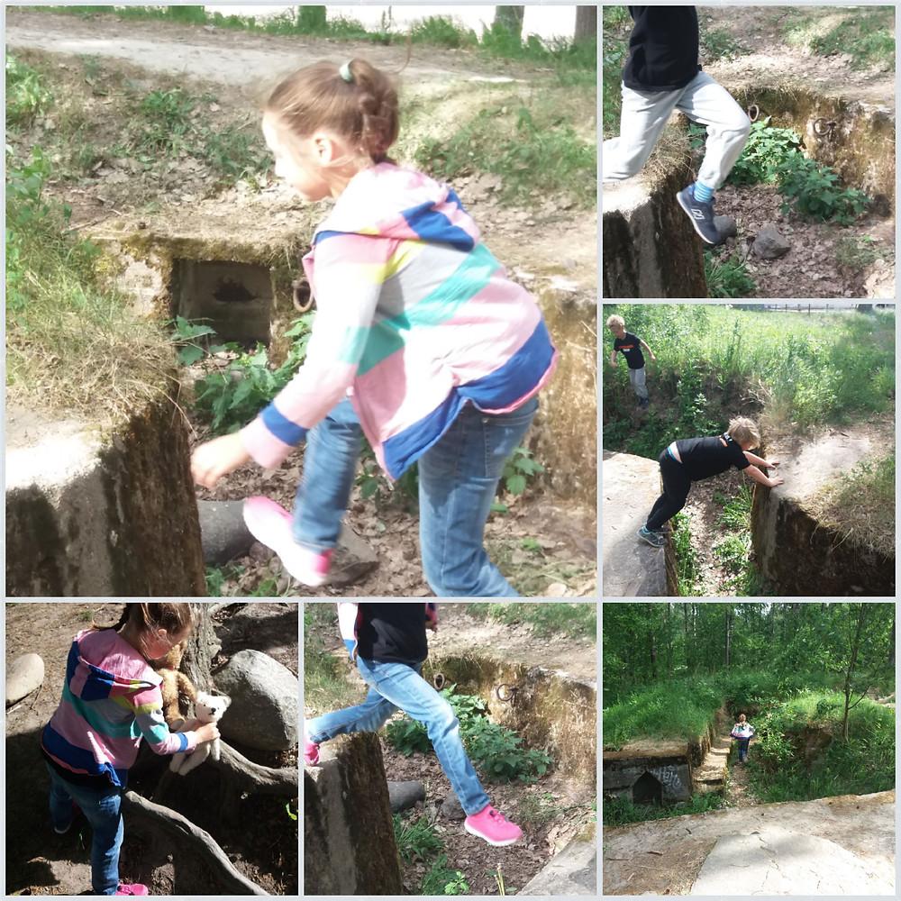 Tauno ja Nelli mukana luontoretkellä.