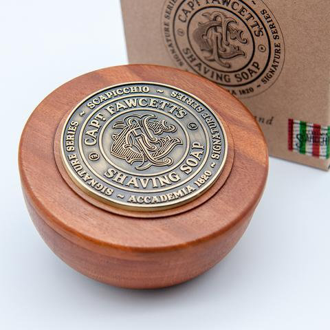 Captain Fawcett - Scapicchio's Fig, Olive and Bay Rum Shaving Soap