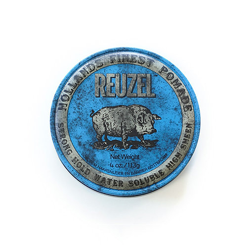 Reuzel Blue Strong Hold High Sheen Pomade (4oz) | 籃豬